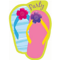 Flip Flop Razzle Dazzle Invitations 8ct