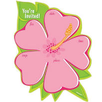 Tropical Flower Invitations50ct