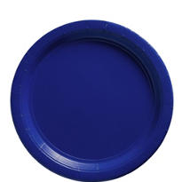 Royal Blue Paper Lunch Plates 50ct