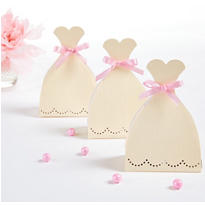 Wedding Dress Favor Boxes 12ct