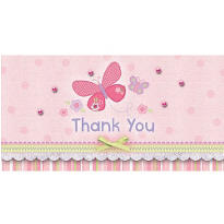 Carter Girl Baby Shower Thank You Notes 8ct
