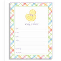 Ducky Baby Shower Invitations 20ct