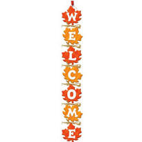 Fall Leaf Wooden Welcome Sign 28in