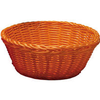 Orange Round Serving Basket
