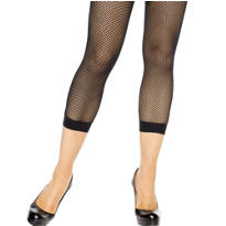 Adult Black Footless Fishnet Stockings