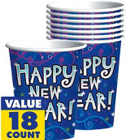 Midnight Festivities New Years Cups 18ct