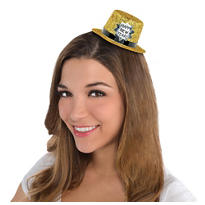 New Years Mini Glitter Top Hat 2 1/8in