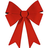 Red Bow 29in x 24in
