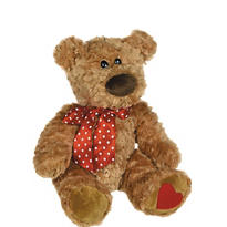 Sweet Cheeks Brown Bear Plush 15in
