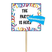 Party Streamer Personalized Yard Sign