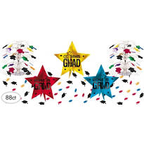 Colorful Ultimate Graduation Table Decorating Kit 88pc