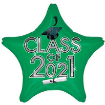 Green Class of 2014 Star Graduation Balloon