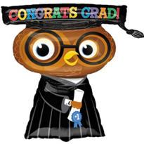 Foil Congrats Grad Owl Graduation Balloon