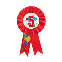I Am 5 Birthday Award Ribbon