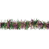 Mardi Gras Curved Tinsel Garland 12ft