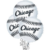 Chicago White Sox Balloons 18in 3ct