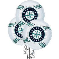 Seattle Mariners Balloons 18in 3ct