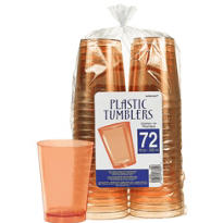 Orange Plastic Tumblers 10oz 72ct