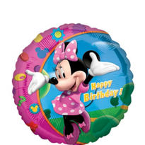 Foil Minnie Mouse Happy Birthday Balloon 18in