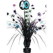 The Party Continues 40th Birthday Spray Centerpiece