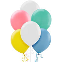 Assorted Pastel Latex Balloons 12in 72ct