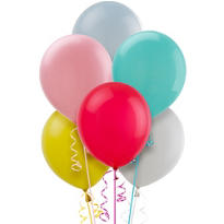 Assorted Pastel Balloons 15ct