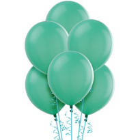 Aqua Latex Balloons 12in 15ct