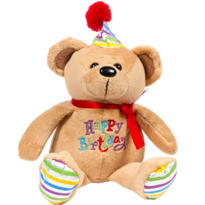 Happy Birthday Bear Plush 7in