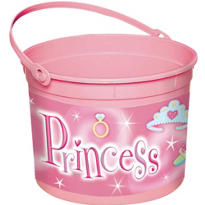 Plastic Princess Easter Bucket 8in