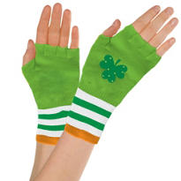 St. Patricks Day Fingerless Glovettes