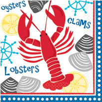 American Summer Lobster Fest Lunch Napkins 16ct