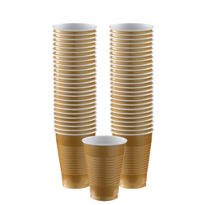 Gold Plastic Cups 50ct