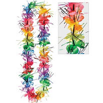Rainbow Tinsel Lei