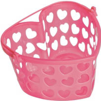 Pink Heart Container 7in