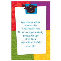 Custom Way to Go Grad Invitations
