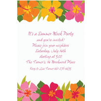Floral Paradise Warm Custom Invitation