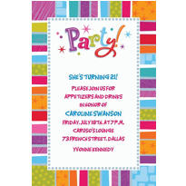 Custom Radiant Happy Birthday Invitations