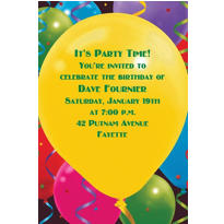 Custom Balloon Celebration Birthday Invitations