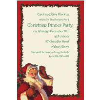 Jolly St. Nick Custom Invitation