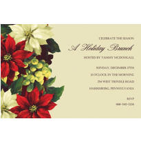 Regal Poinsettia Custom Invitation