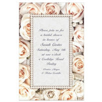 Lovely in White Custom Bridal Shower Invitation