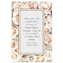 Lovely in White Custom Bridal Shower Invitation