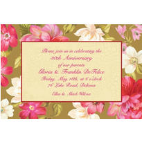 Elegant Bouquet Custom Invitation