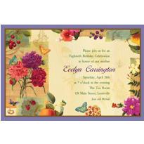 Le Jardin Custom Invitation