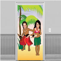 Luau Dancers Photo Door Banner