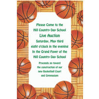 Basketball Border Custom Invitation