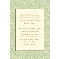 Sage Damask/Ecru Custom Invitation