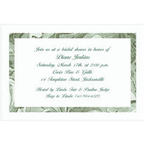 Engraving Border/White Custom Invitation