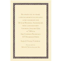 Black Tapestry Border/Ecru Custom Invitation