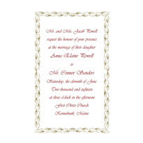 Gold Leaf Scroll Custom Invitation